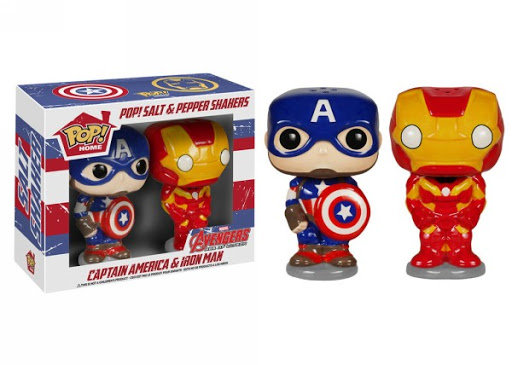 POP! Home Salt N Pepper Shakers Set of 2 ~ Captain America and Iron Man