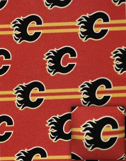 NHL Fleece Combo 2 Piece Pillow and Throw Calgary Flames