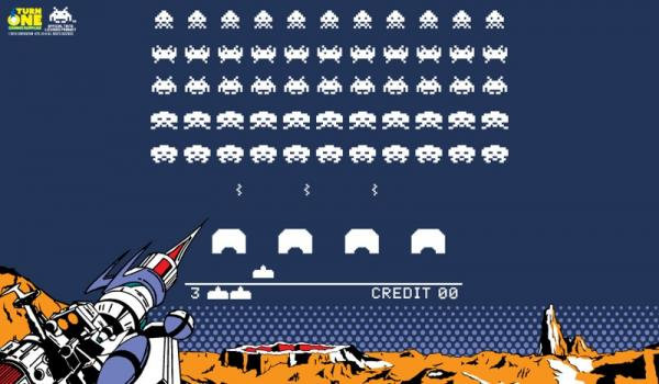 Turn One Gaming: Space Invaders Retro Play Mat