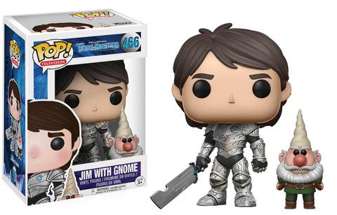 Pop! Television Trollhunters Vinyl Figures Armored Jim with Gnome #466 (Vaulted)
