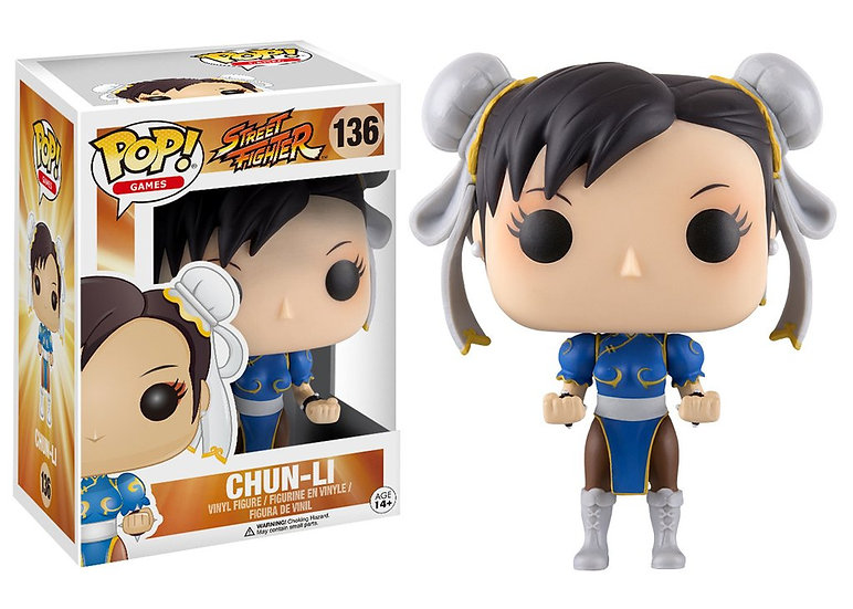Pop! Games Street Fighter Vinyl Figure Chun-Li #136 (Vaulted)