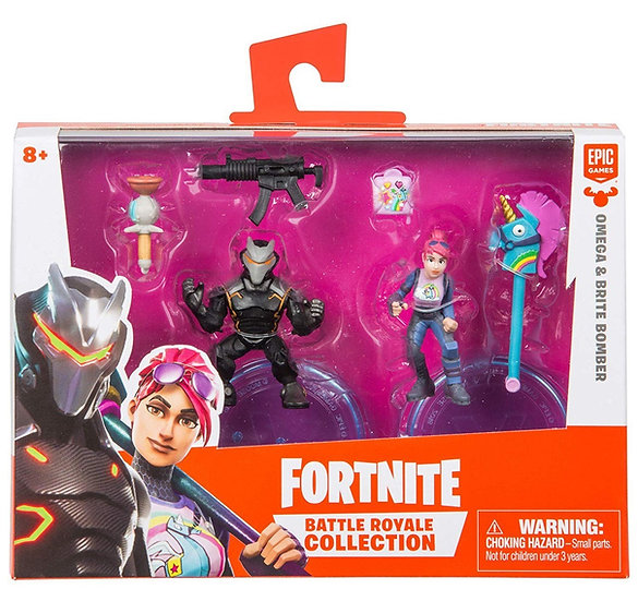 Fortnite Epic Games Battle Royale Collection Omega & Brite Bomber 2-Inch Figures