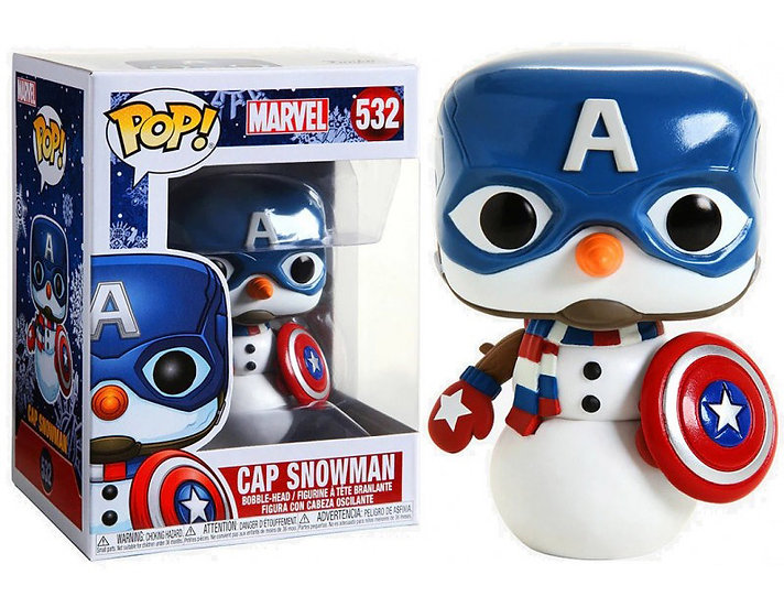 Pop! Marvel Holiday Vinyl Bobble-Head Cap Snowman #532
