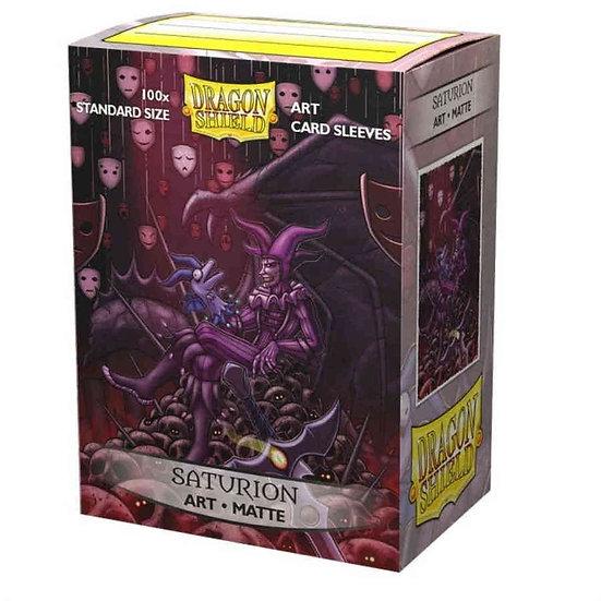 Dragon Shields: Matte Card Sleeves (100): Saturion Portrait Art Sleeves