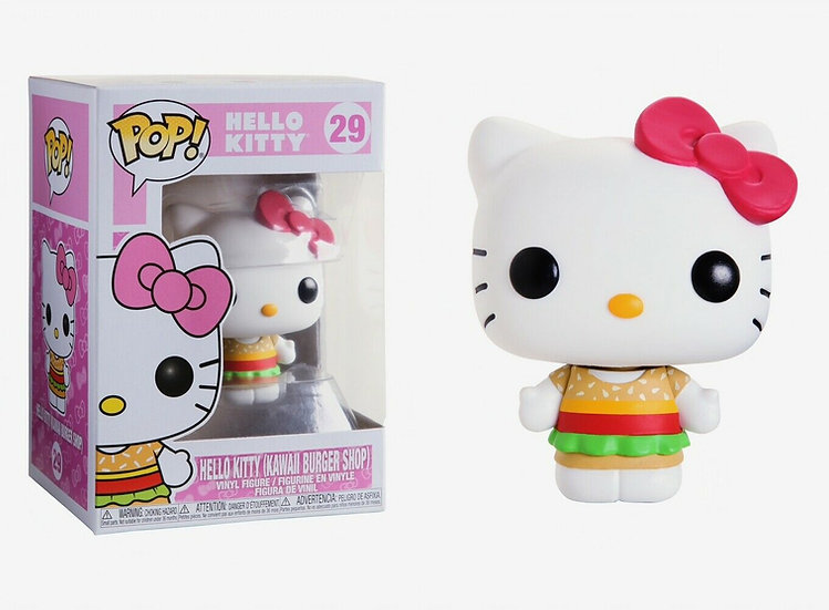 Pop! Sanrio Hello Kitty Vinyl Figure Hello Kitty (Kawaii Burger Shop) #29
