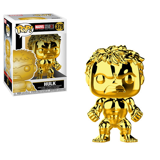 Pop! Marvel Studios The First Ten Year Vinyl Bobble-Head Hulk (Gold Chrome) #379