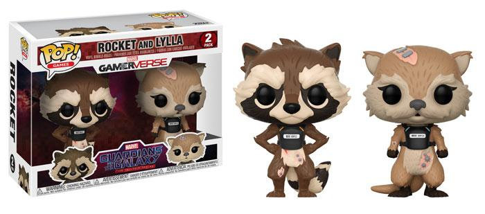 Pop! Games Guardians of the Galaxy Vinyl Figure 2-Pack Rocket and Lylla Vaulted