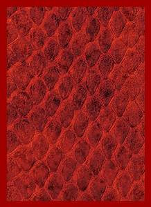 Legion Dragon Hide Art Sleeves Red with Gloss Finish, 50 Pack Standard Size