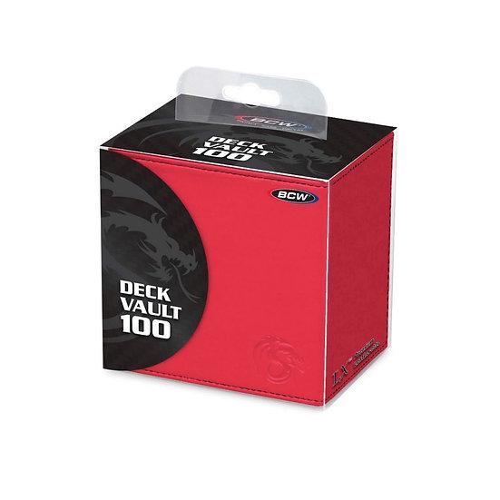 BCW Deck Vault - LX - 100 - Red