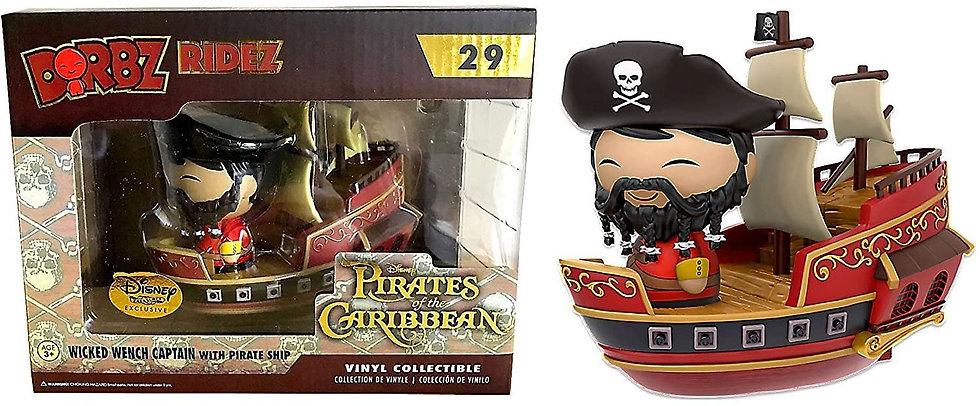 Dorbz Ridez Disney Pirates Of The Caribbean Wicked Wench Captain & Ship #29