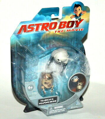 Astroboy The Movie Trashcan and Weapons Drone Figures