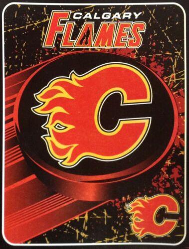 "Calgary Flames 46"" x 60"" NHL Ice Dash Micro Raschel Plush Throw Blanket"