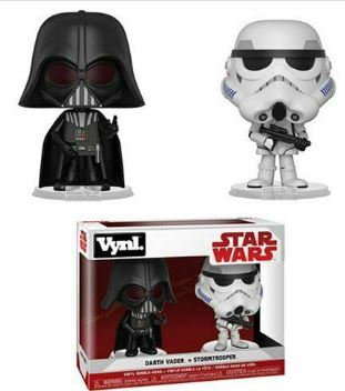 Star Wars: The Empire Strikes Back Darth Vader and Stormtrooper Vynl. Figure 2-P