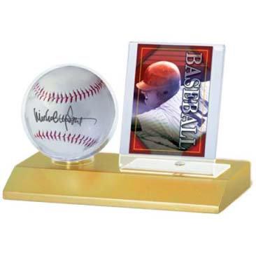 Ultra Pro Baseball & Card Light Wood Holder