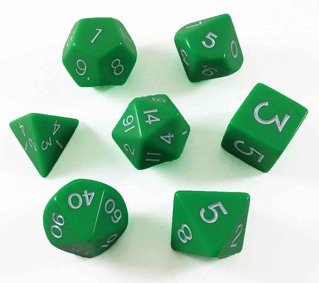 Koplow 7 Jumbo RPG Dice Set Green