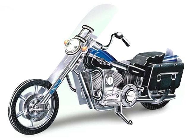 DIY 3D puzzle motorcycle 113 pieces