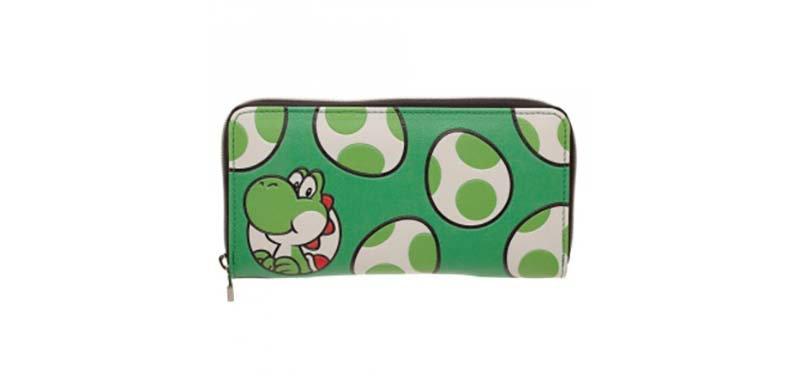 """Nintendo  """"Yoshi Eggs"""" Green Wallet"""