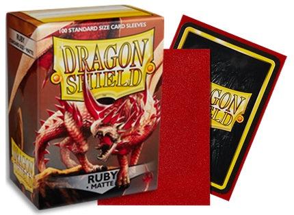 Dragon Shields: Matte Sleeves - Ruby
