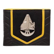 Star Wars Solo Lando Millenium Falcon Bi-fold Metal Badge Wallet