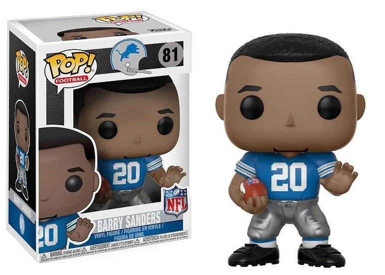 Funko Pop Detroit Lions NFL Barry Sanders 81