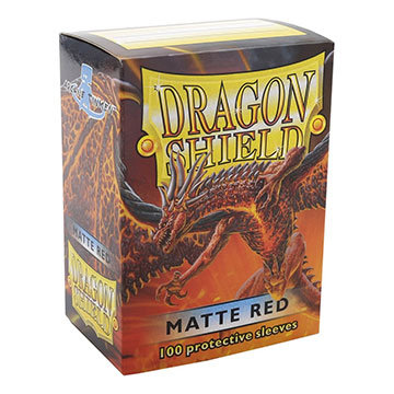 Dragon Shields: Matte Card Sleeves (100): Red