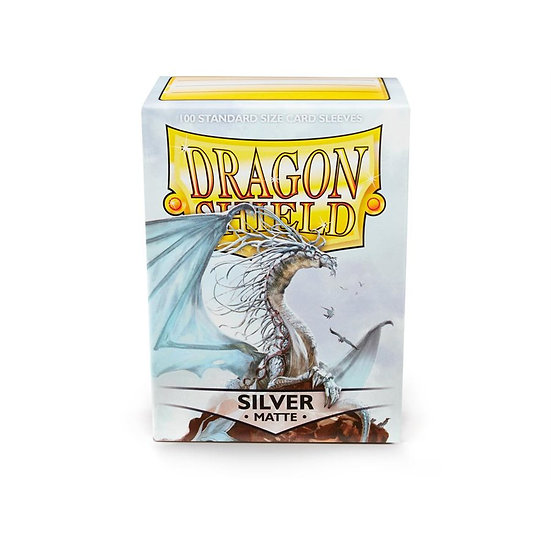Dragon Shields: Matte Card Sleeves (100): Silver