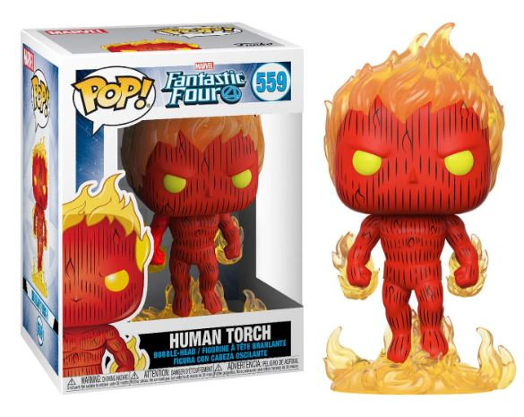 Pop! Marvel Fantastic Four Vinyl Bobble-Head Human Torch #559