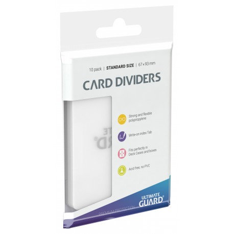Ultimate Guard Transparent Card Dividers 10 Pack