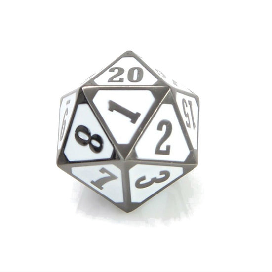 Die Hard Roll Down Metal Dice Sinister White