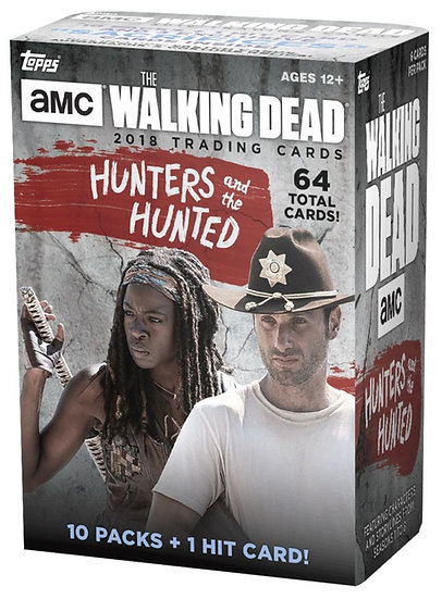 Topps Walking Dead Hunters And The Hunted Trading Cards 10 Packs + 1 Hit Card