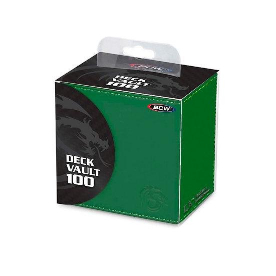 BCW Deck Vault - LX - 100 - Green