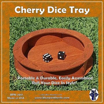 Circular Wooden Dice Tray: Cherry