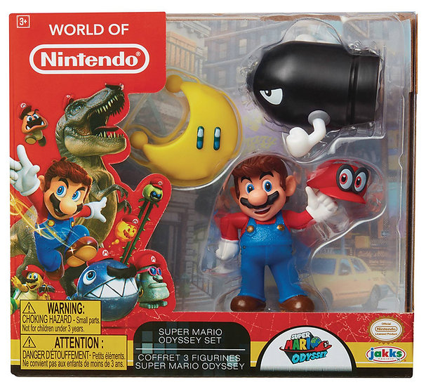 World Of Nintendo Super Mario Odyssey 3-Pack Figure