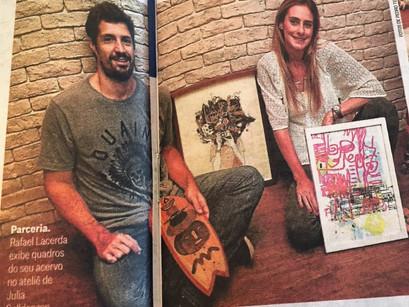 RL e Julia Golldenzon no O Globo