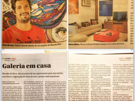 RL Escritório de Arte no Jornal O Globo, caderno Barra.