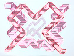 Rastros 1 - Colagem sobre papel - 50x65