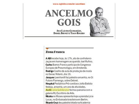Parceria do RL no Ancelmo Gois, jornal O Globo.