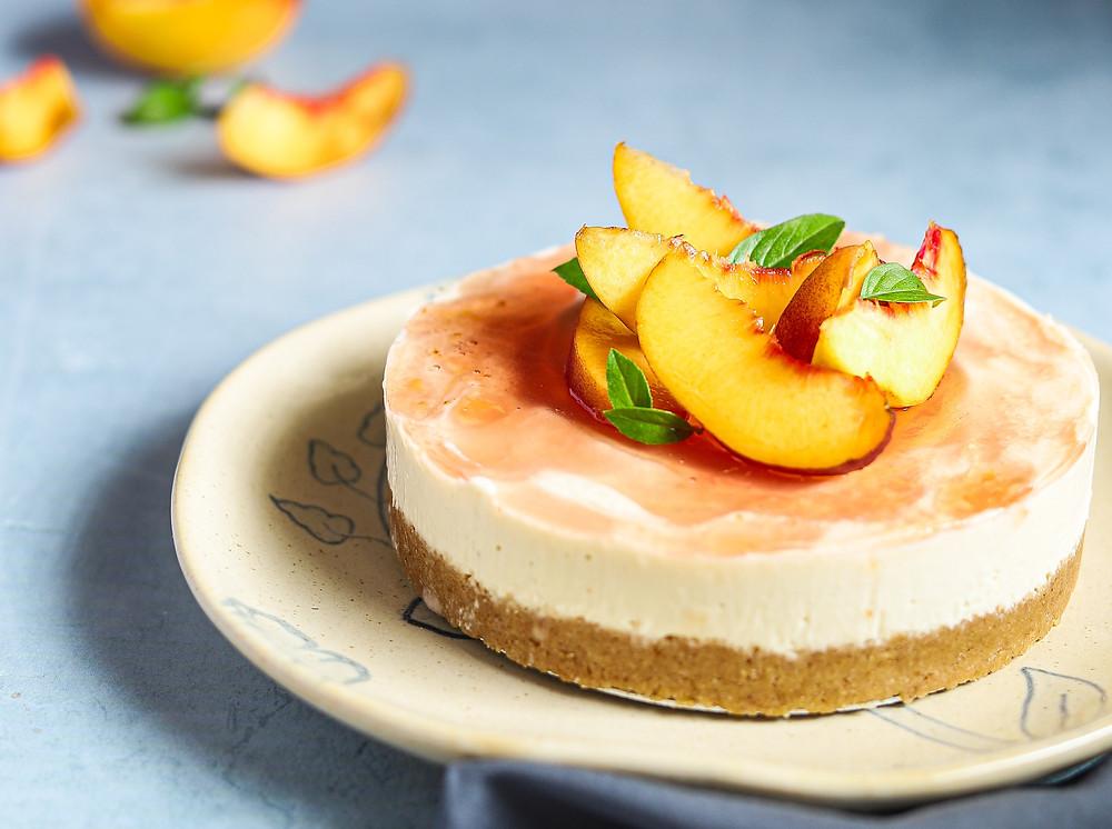 No-bake Eggless Cheesecake