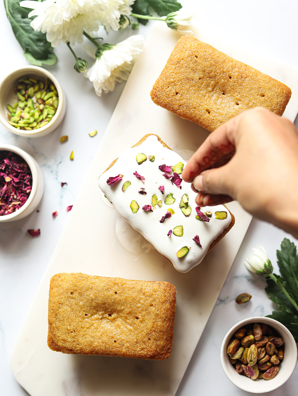 Eggless Persian Love Cake