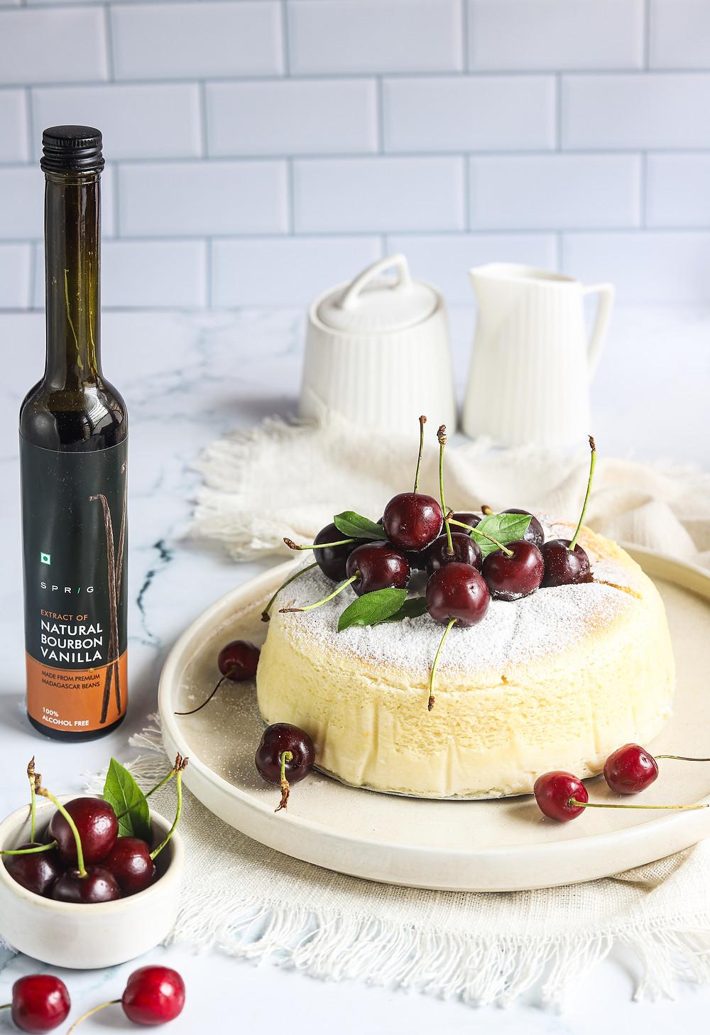 Vanilla Flavoured Japaneese Cheesecake