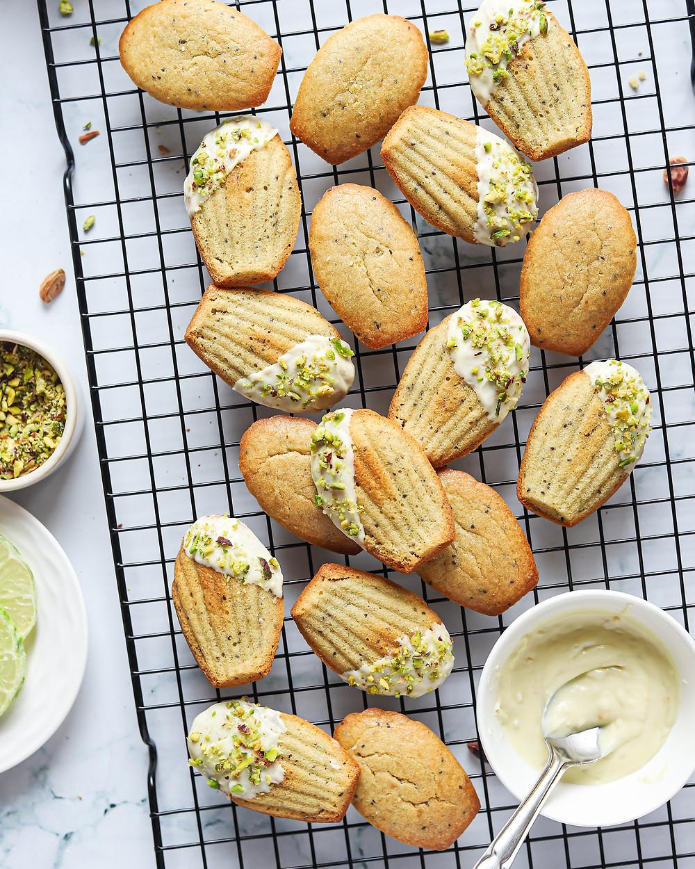 Vegan Lemon Basil Chia Seed Madeleines