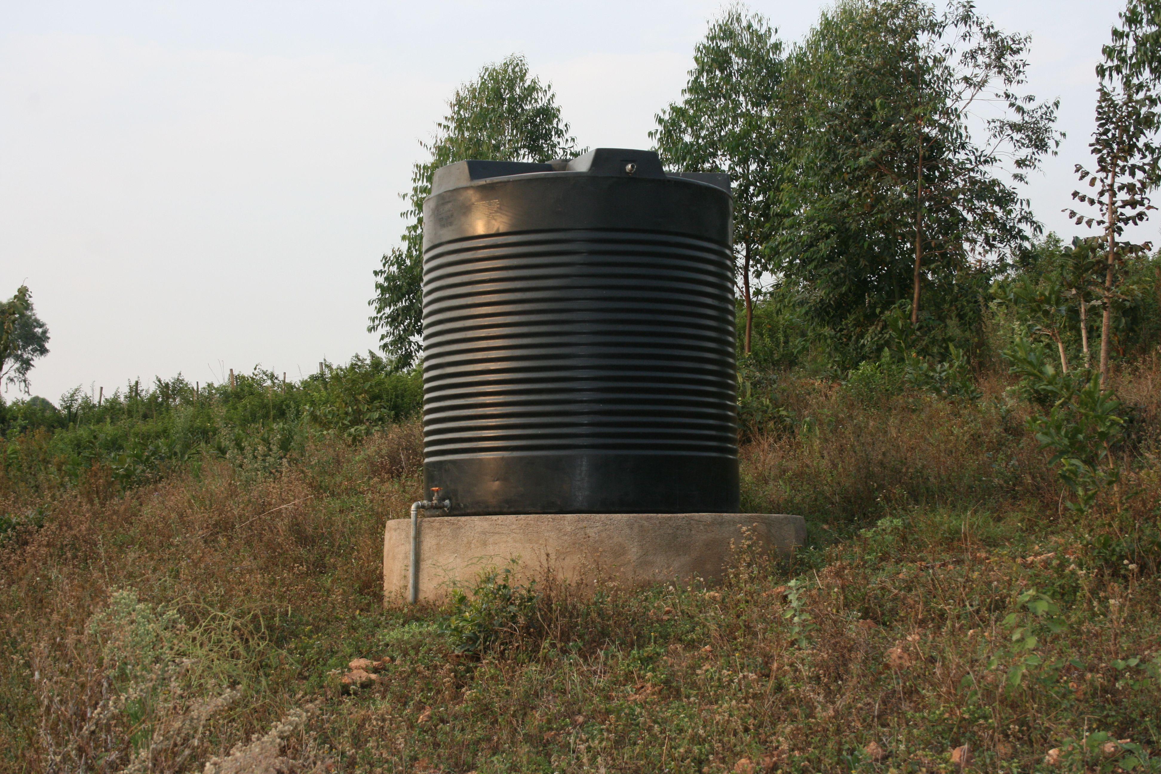 Water tank on the hillside