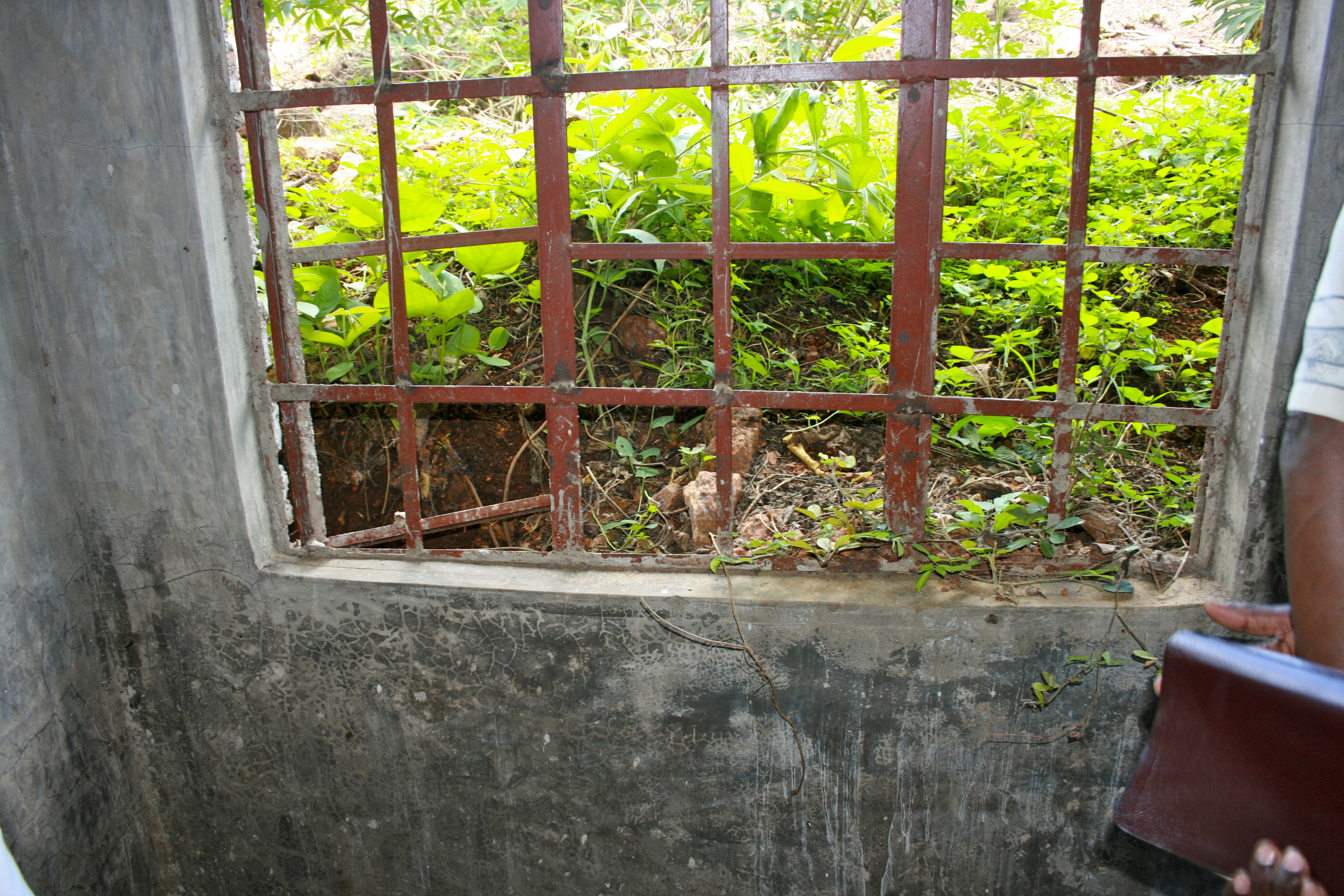Interior view of encroaching hill