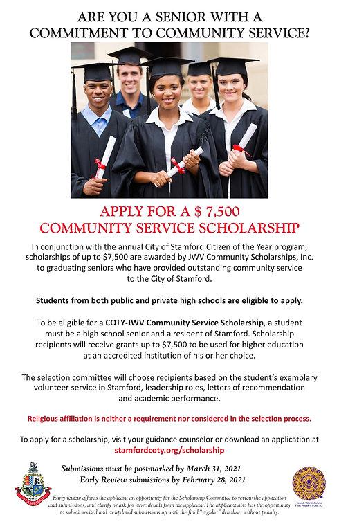 COTY 2020-2021 Scholarship Poster 11x17.