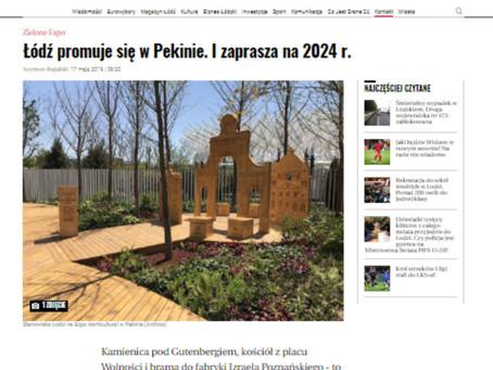 """""""Łódź promuje się w Pekinie. I zaprasza na 2024 r."""" - Gazeta Wyborcza o projekcie Archizo"""