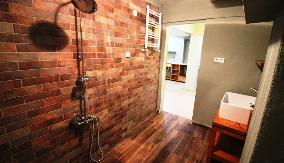 bathroom and toilet