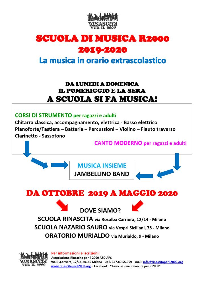 Corsi di Musica e Jambellino Band