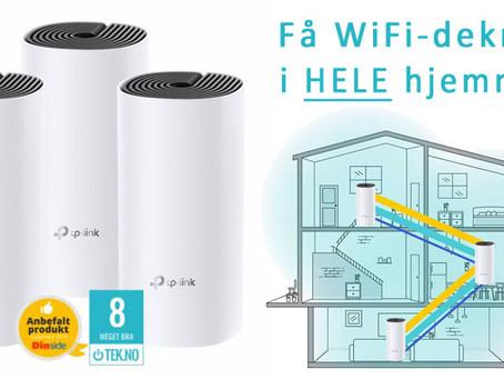 Mesh-nettverk for optimal WiFi-dekning
