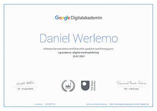 Google Sertifikat Digital Markedsføring