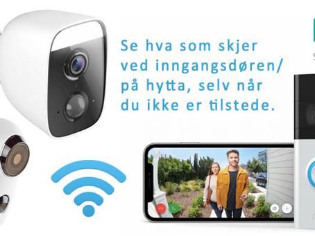 Sikre boligen / hytten / bilen / båten med trådløs kamera overvåking